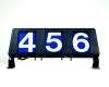 3 digit run number box plastic