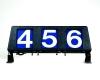 3 digit run number box plastic