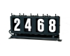4 digit run number box left