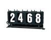 4 digit run number box left
