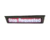 stop requested sign left