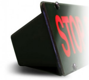 Easy installation Stop Requested signs